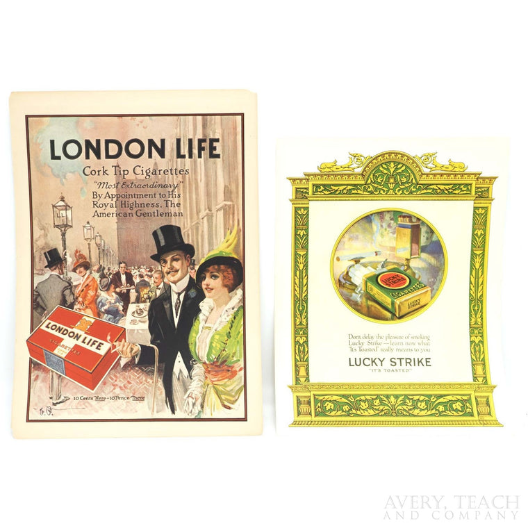 Pair of Vintage Lithograph Advertisements for Theatre Magazine