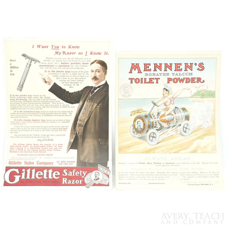 Vintage Pair of Advertisements from The Theatre Advertiser