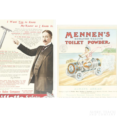 Vintage Pair of Advertisements from The Theatre Advertiser - Avery, Teach and Co.