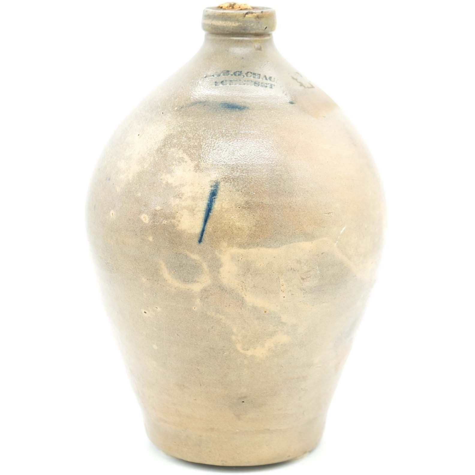 L & B.G. Chace Ovoid Crock Jug - Avery, Teach and Co.