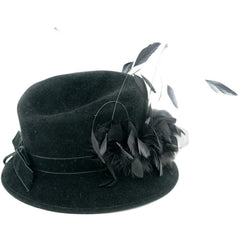 Feathered Cloche Hat - Avery, Teach and Co.
