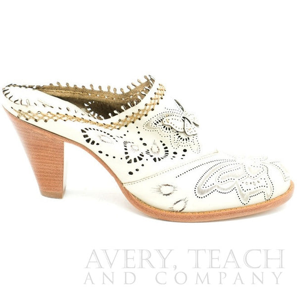 Vince Camuto White Mules - Avery, Teach and Co.