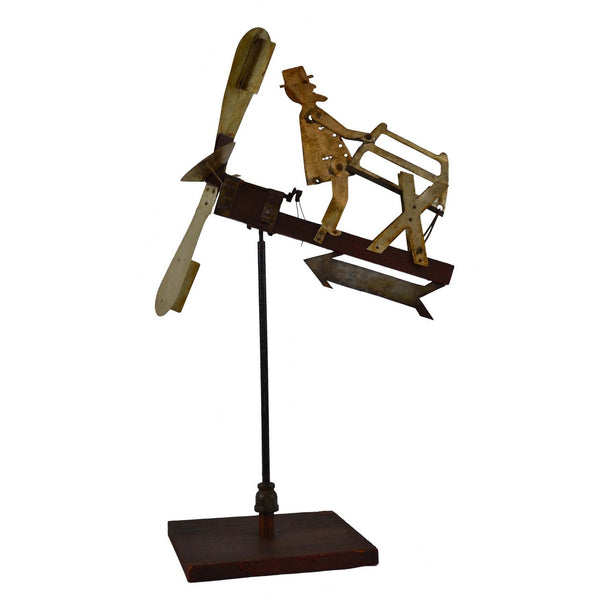 Folk Art Weathervane Whirligig