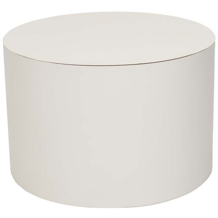Mid-Century Modern 1970s White Cylindrical End Table