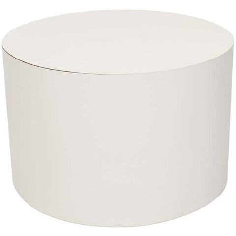 Mid-Century Modern 1970s White Cylindrical End Table - Avery, Teach and Co.
