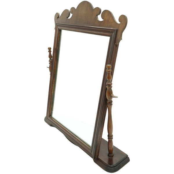 Antique Wood Vanity Mirror