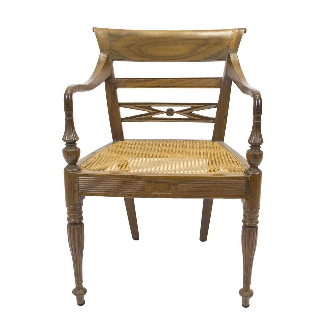 Antique Regency Side Arm Chair