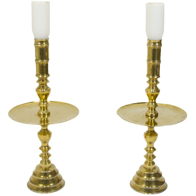 Stately Brass Candle Stands