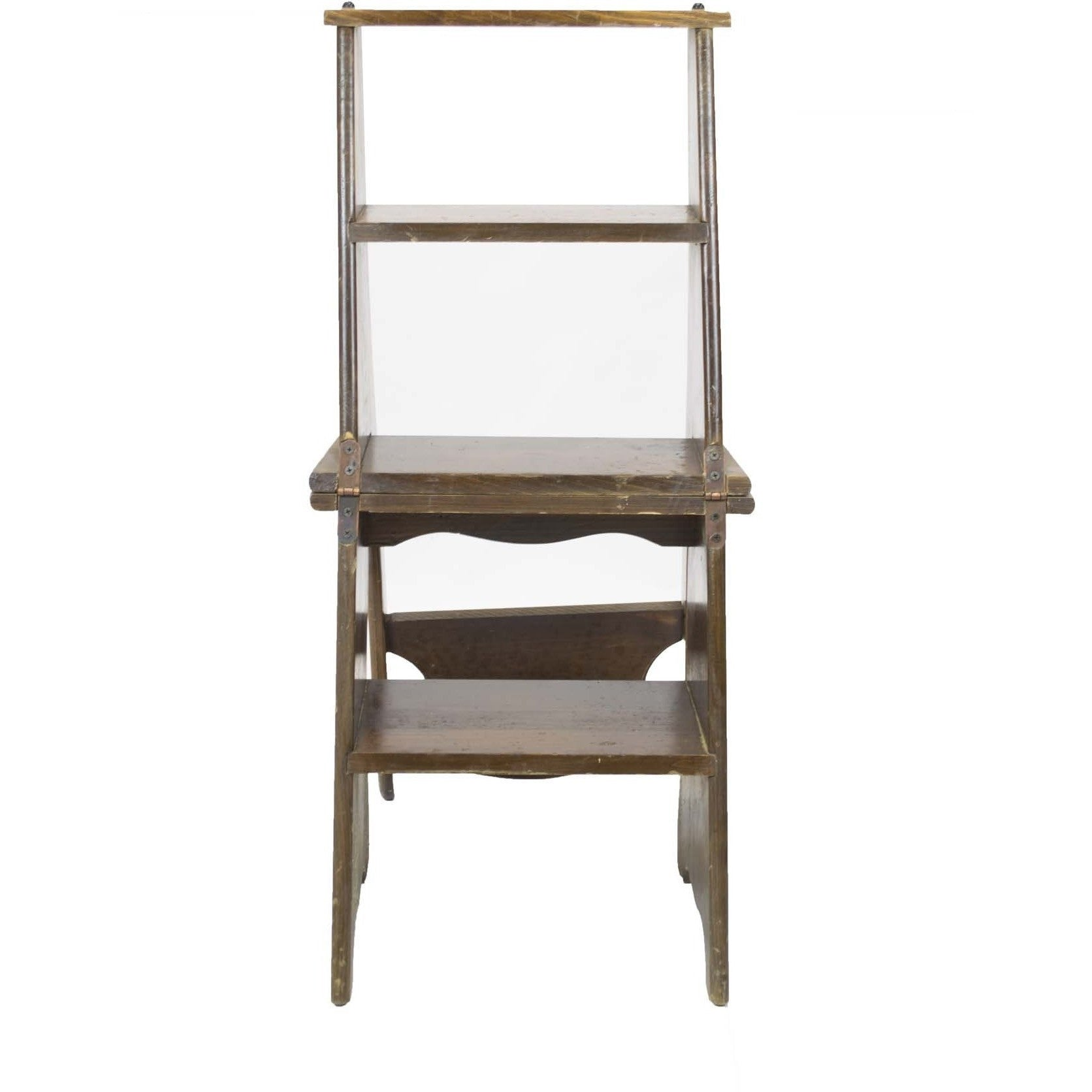 Convertible Ladder-Chair Library Step Stool