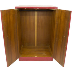 Mid-Century Glossy Red Wooden Wardrobe - Avery, Teach and Co.