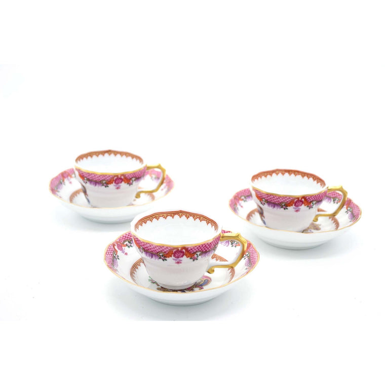Armorial Cups and Saucers by NG