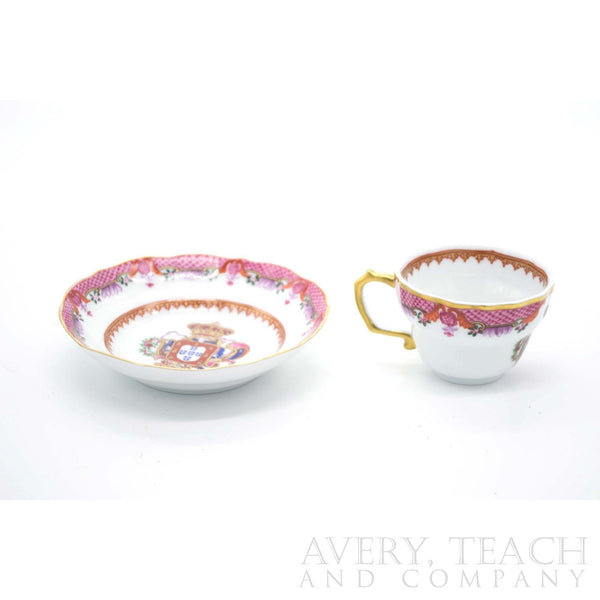 Armorial Cups and Saucers by NG - Avery, Teach and Co.