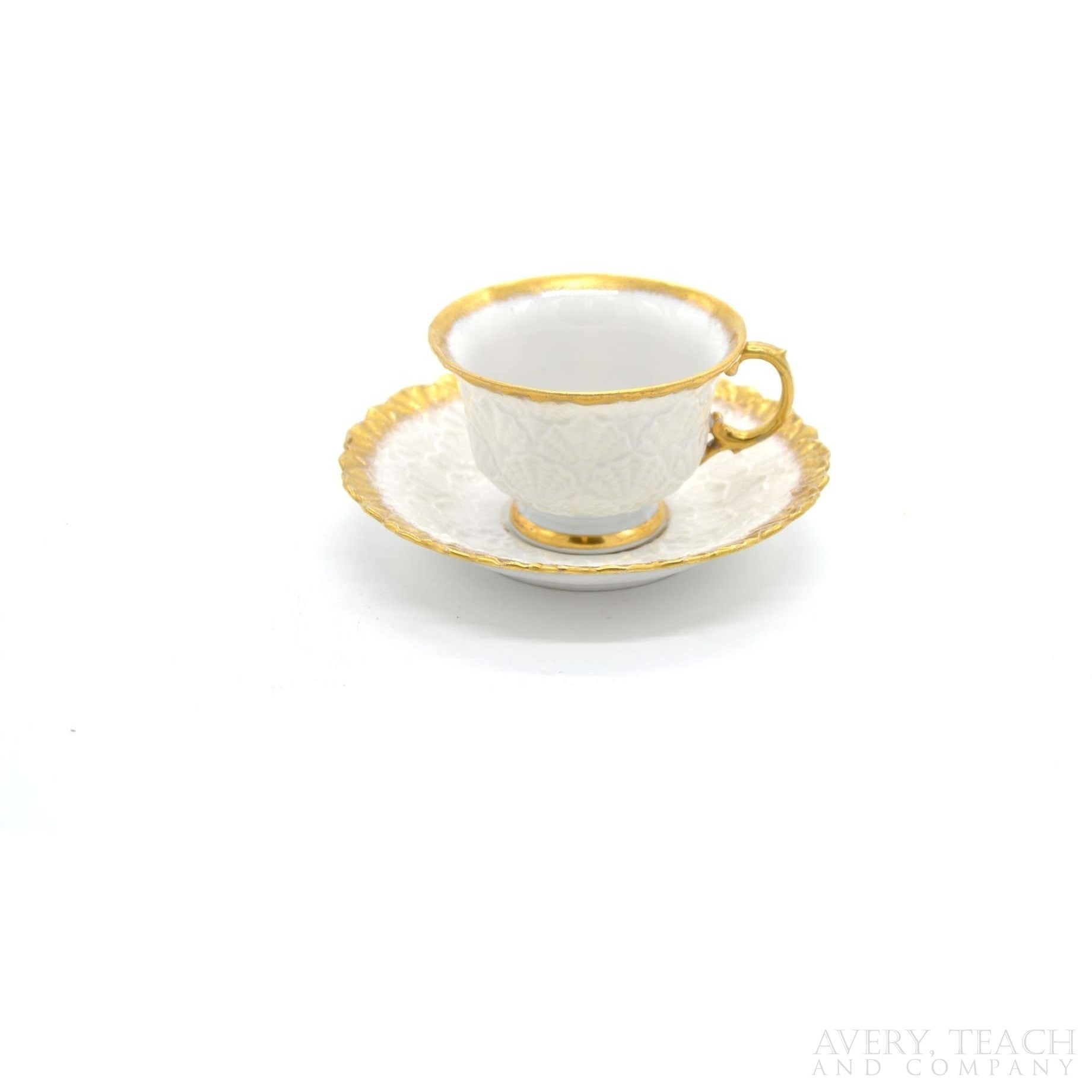 Meissen Vintage Gold Trim Teacup and Saucer - Avery, Teach and Co.