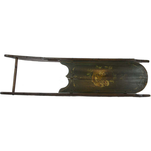 Decorative Antique Painted Wooden Child's Sled