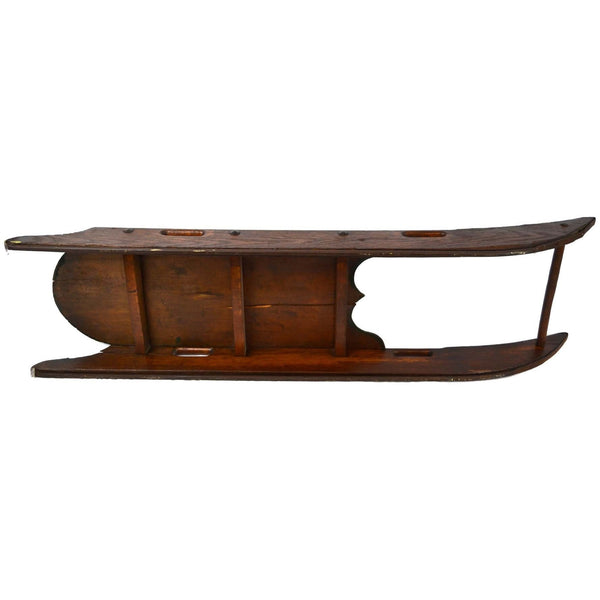Decorative Antique Painted Wooden Child's Sled - Avery, Teach and Co.