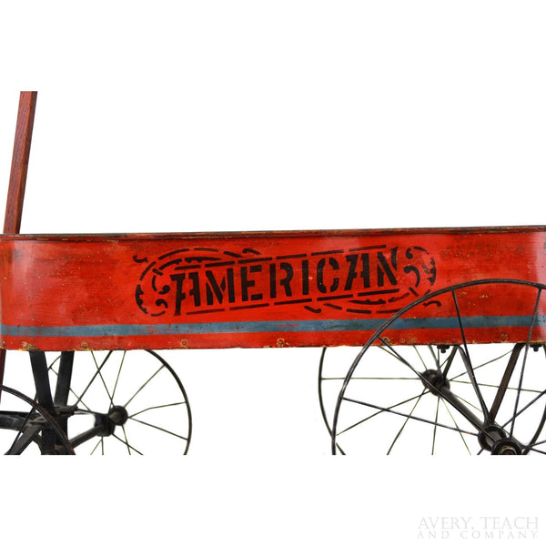 "Vintage ""American"" Red Wagon - Avery, Teach and Co."
