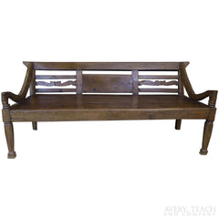 Dutch Colonial Teak Bench