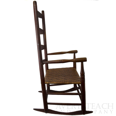 Vintage Shaker Ladder Back Rocking Chair - Avery, Teach and Co.