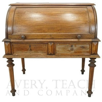 19th Century Cylinder Roll Top Desk
