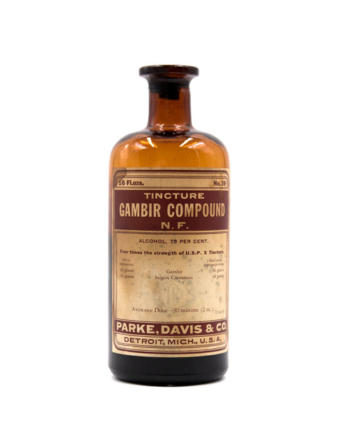 Glass Bottle - Tincture Gambir Compound - Parke Davis & Co.
