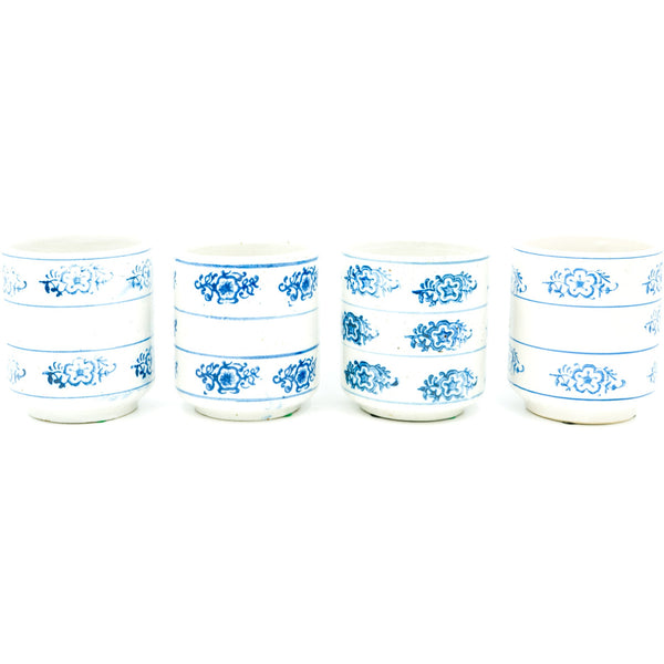 Snowflake-Patterned Kitchen Crocks (Set of 4)