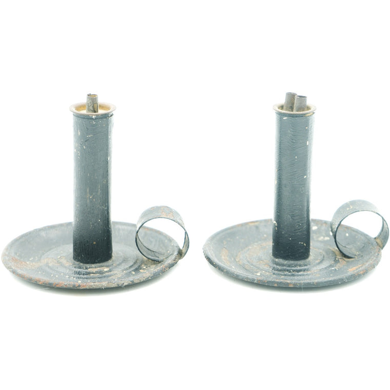 Small Chamber Style Hogscraper Candlesticks (Set of 2)