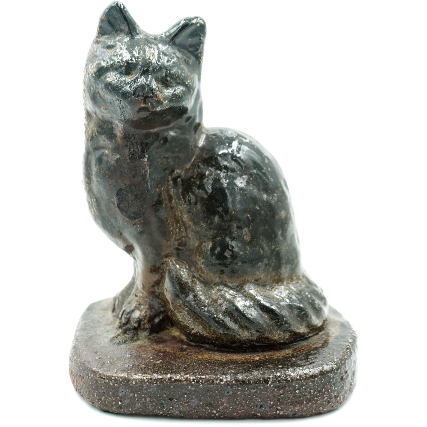 Cat Glazed Sewer Tile Sculpture - Avery, Teach and Co.