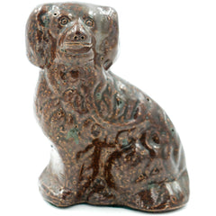 Small Spaniel Glazed Sewer Tile Sculpture - Avery, Teach and Co.