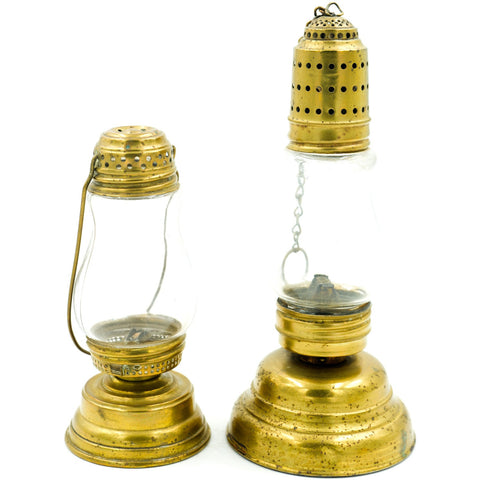 Antique Oil Lamps (Set of 2)