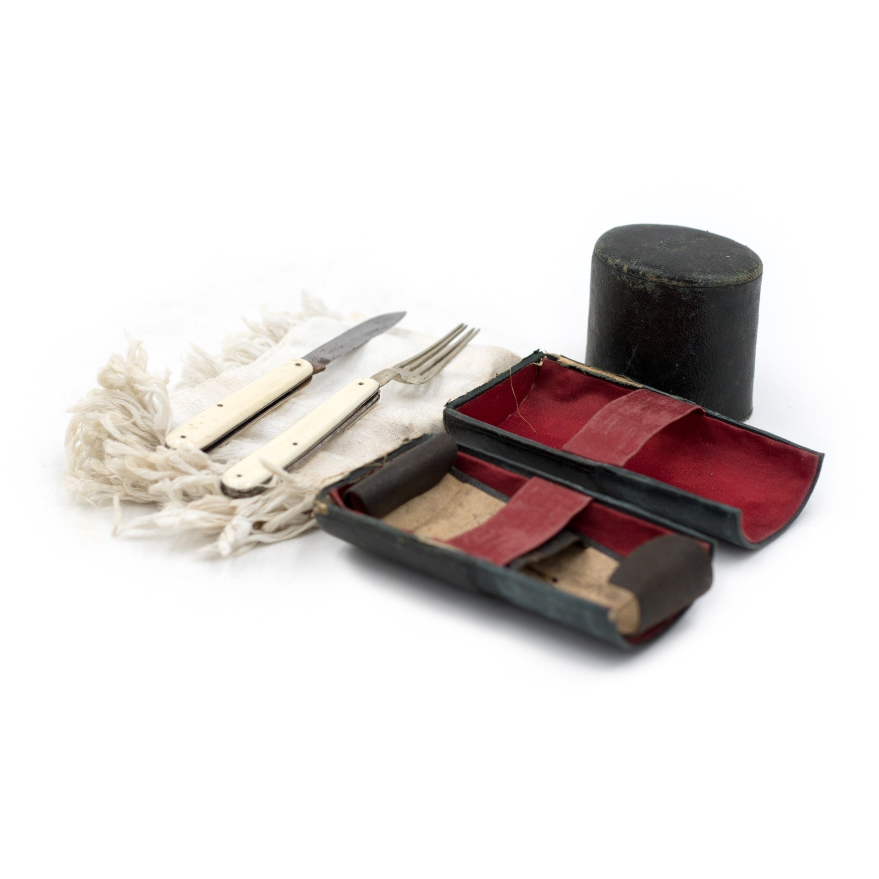 Picnic Utensil Set with Leather Case