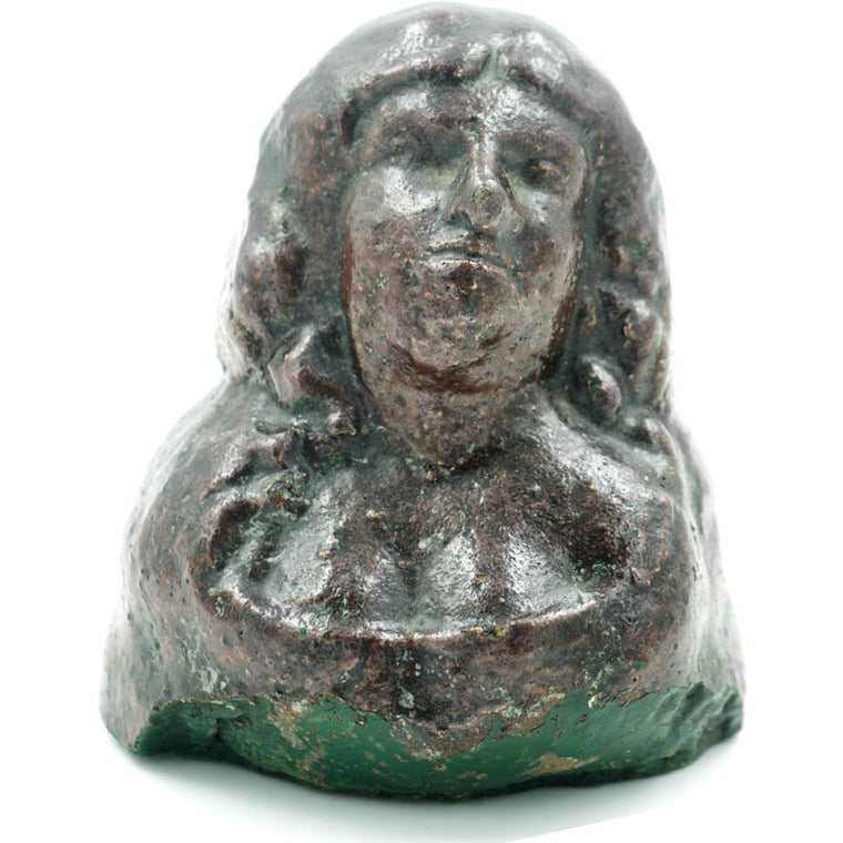 Bust of a Woman Glazed Sewer Tile Sculpture