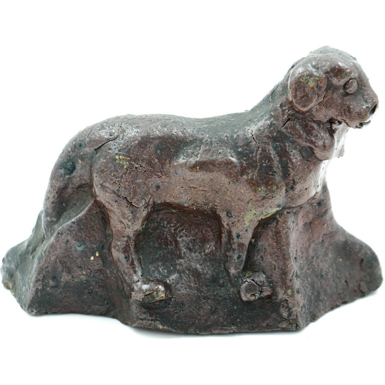 Hand Molded Dog Sculpture