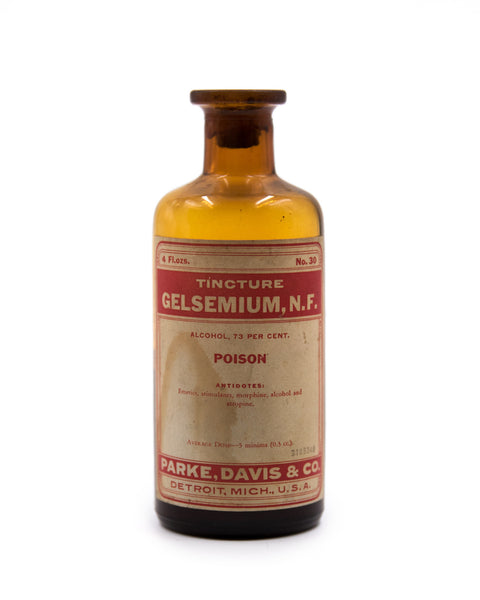 Glass Bottle - Gelsemium Tincture - Parke Davis & Co.