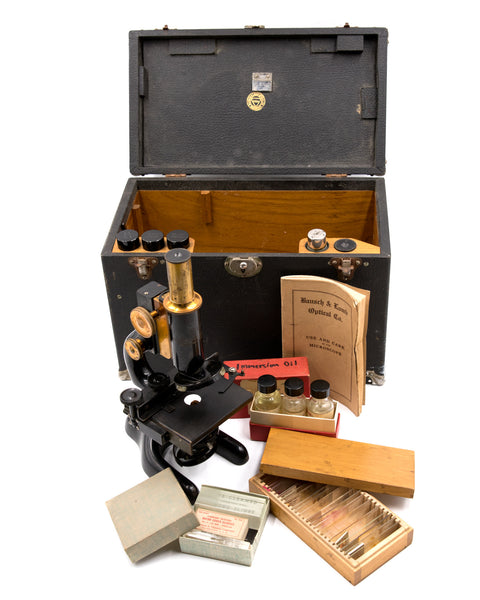 Laboratory Equipment - Bausch & Lomb Antique Microscope