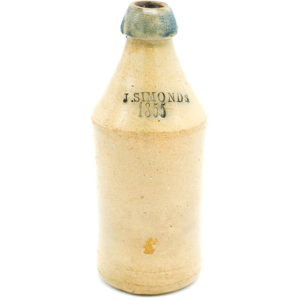 J. Simonds 1855 Stoneware Bottle