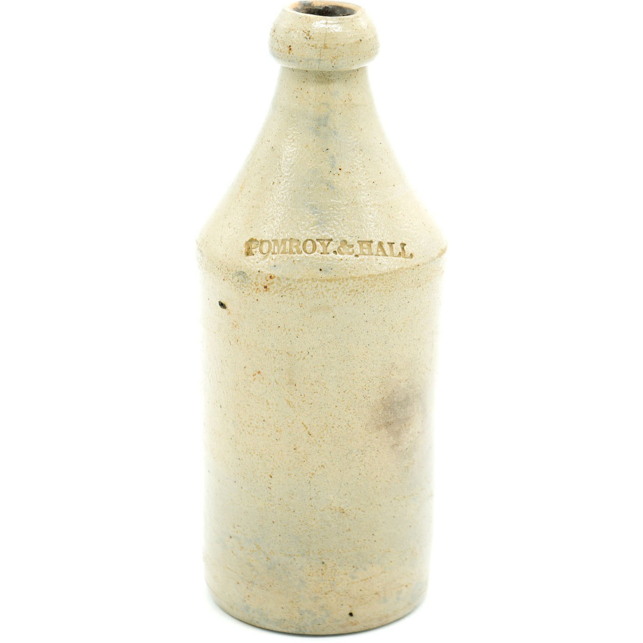 1850s Pomroy & Hall Stoneware Beer Bottle