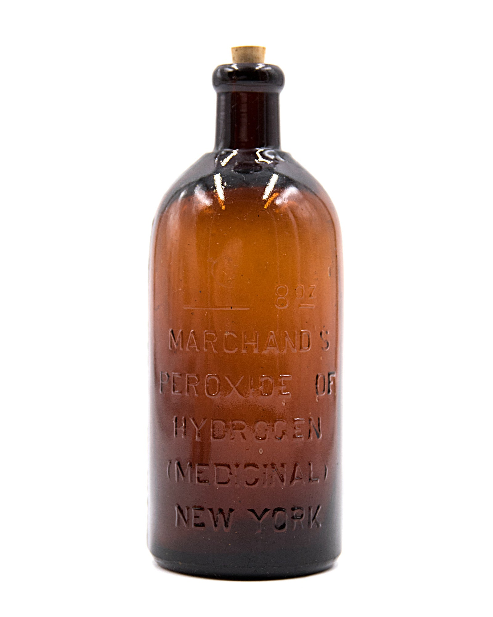 Glass Bottle - Marchand's Peroxide of Hydrogen (Medicinal), NY
