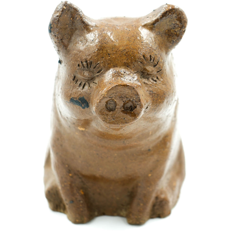Big Pig Glazed Sewer Tile Sculpture