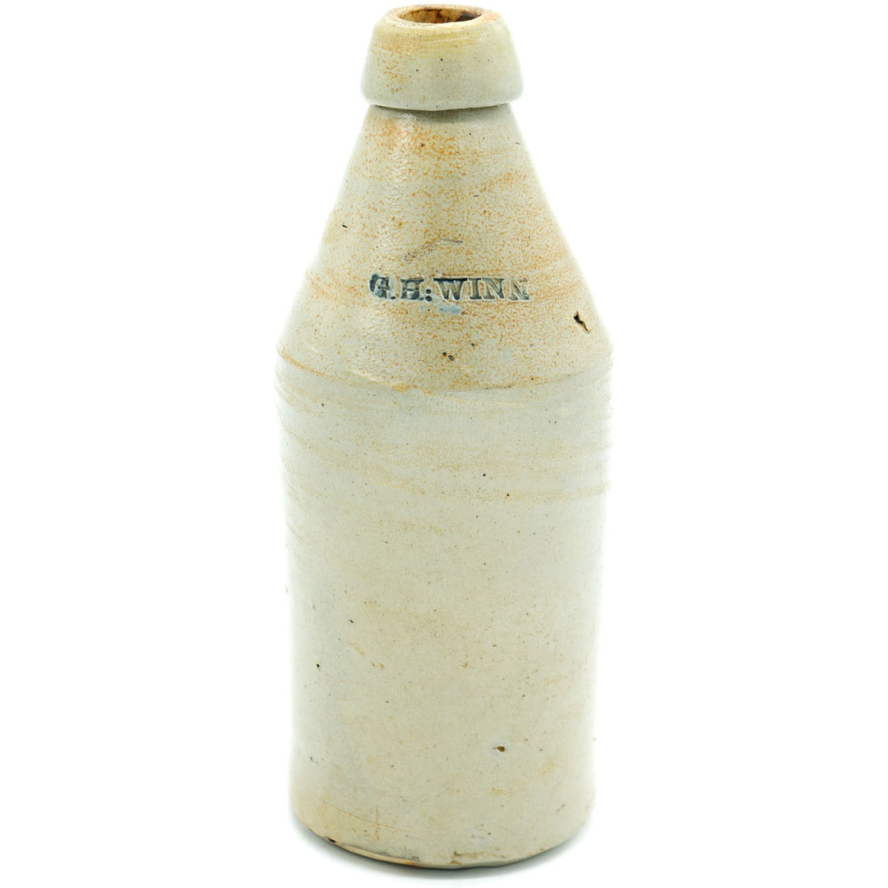 G.H: Winn Stoneware Beer Bottle