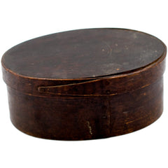 Stained Dark Oval One-Finger Colonial Shaker Box