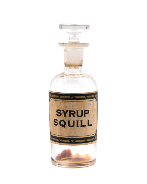 Glass Bottle - Syrup Squill
