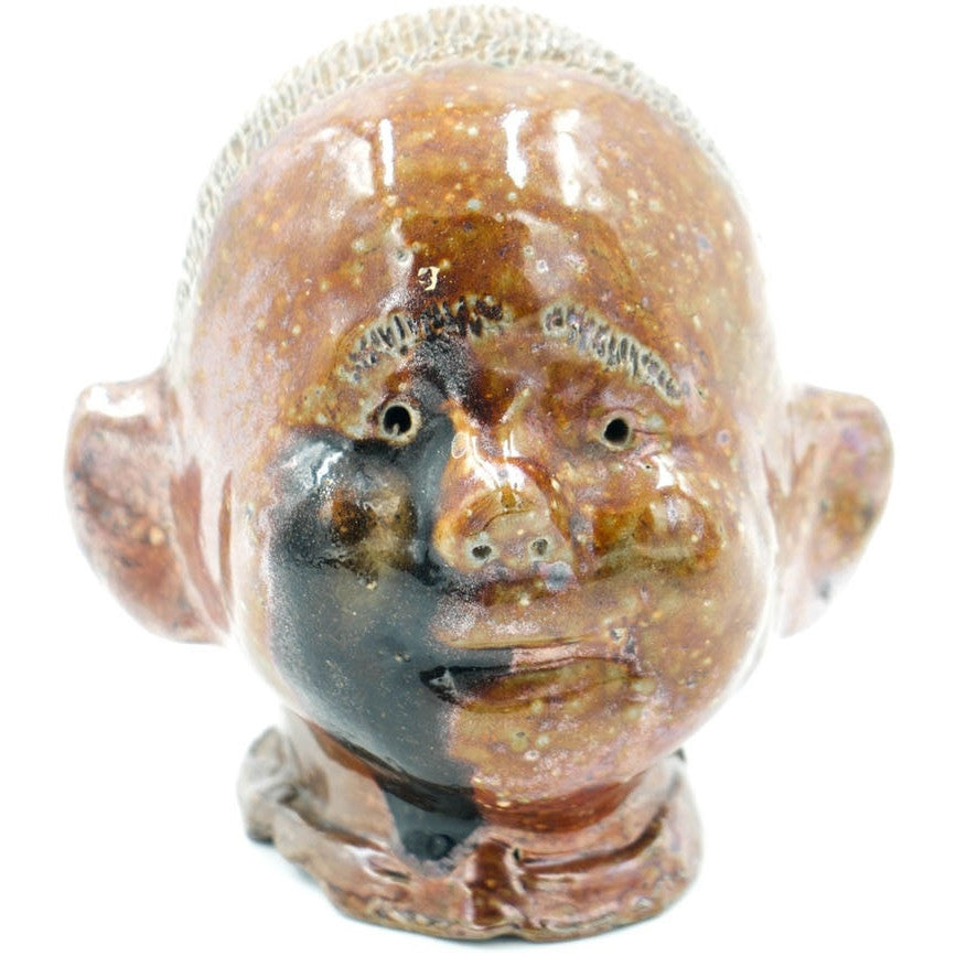 Baby Head Glazed Sewer Tile Sculpture - Avery, Teach and Co.