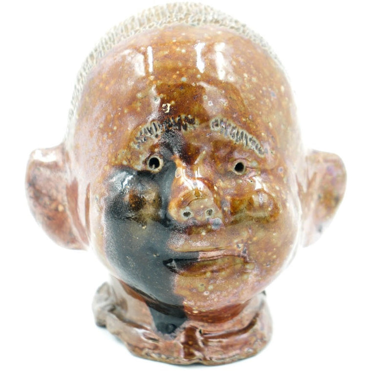 Baby Head Glazed Sewer Tile Sculpture