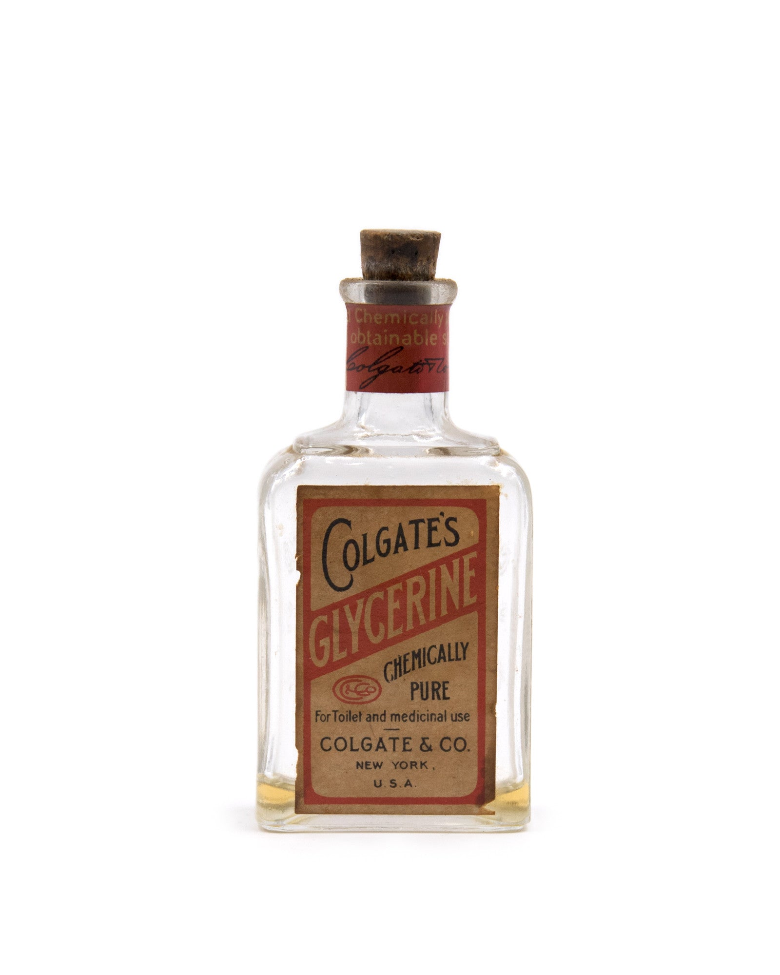 Glass Bottle - Colgate's Glycerine