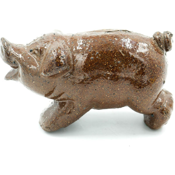 Pig Bank Glazed Sewer Tile Scuplture - Avery, Teach and Co.