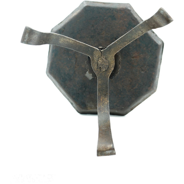 18th Century Forged Iron Table-Top Candle Holder