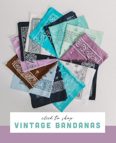 Click to shop vintage bandanas