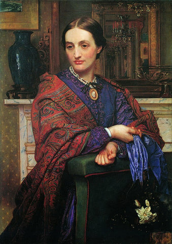 Fanny Holman Hunt painted by William Holman Hunt