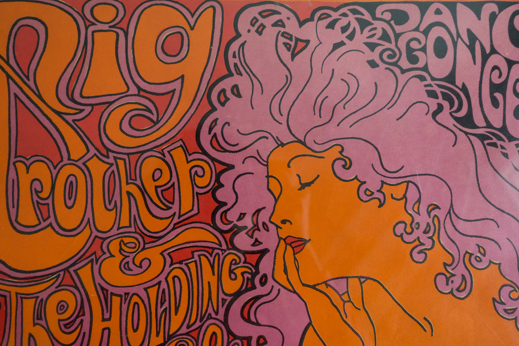 1967 Original Big Brother and the Holding Co Poster | Janis Joplin Psychedelic Concert Poster