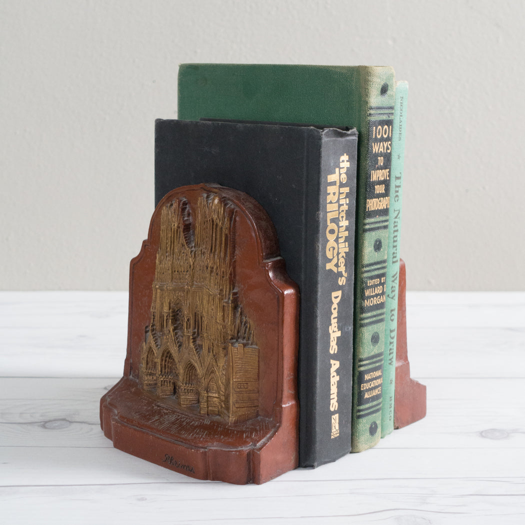 Vintage Notre Dame Cathedral Bookends